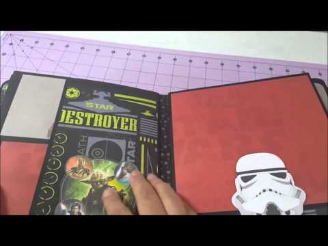 star wars mini album scrapbook