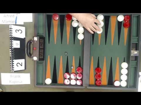 Carolina Backgammon R1 Alfred Mamlet v Frank Raposa