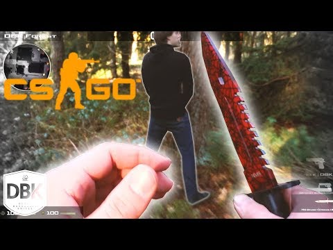 A REAL CS:GO Knife! Good for Survival?