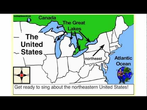 Northeastern U.S.A. Geography Song