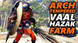 ARCH TEMPERED VAAL HAZAK BUILD - CHARGE BLADE STAGGER - Monster Hunter World