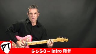 How to Play 5-1-5-0 (Dierks Bentley) country guitar lesson 5150