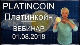 🎯 PlatinCoin. Платинкойн. Вебинар. 01.08.2018
