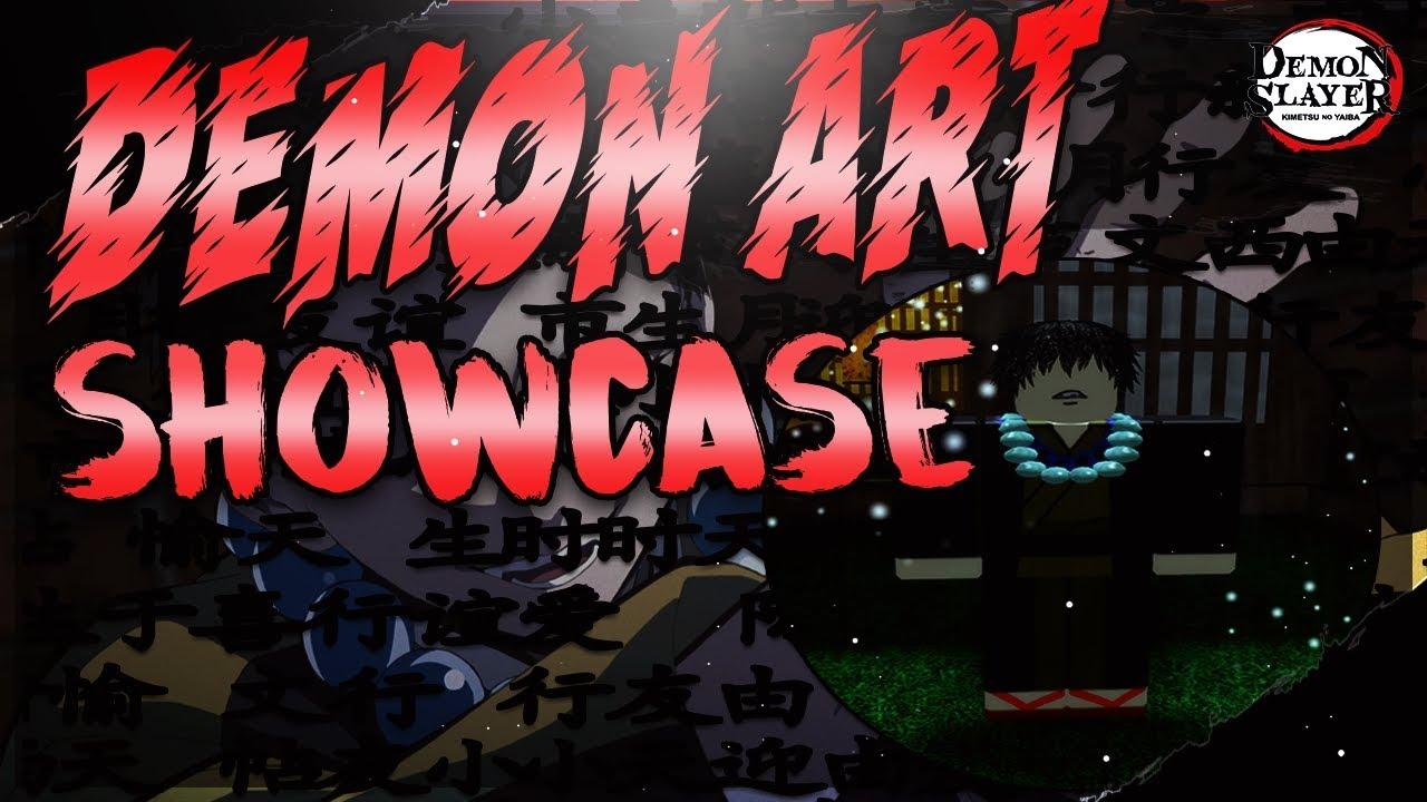 Demon Art Showcase Npc Location Demon Slayer Roblox Rpg