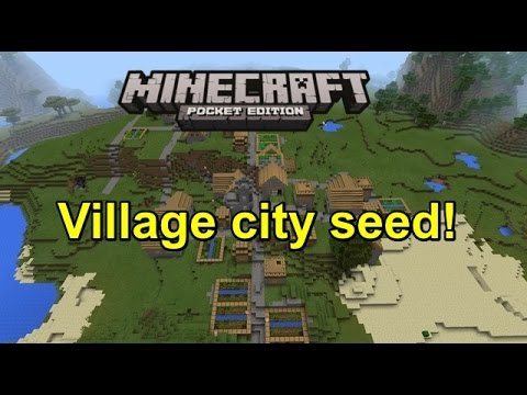 Minecraft pe Village city seed review!