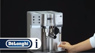 How to use the De'Longhi EC 860 Coffee Machine for the first time