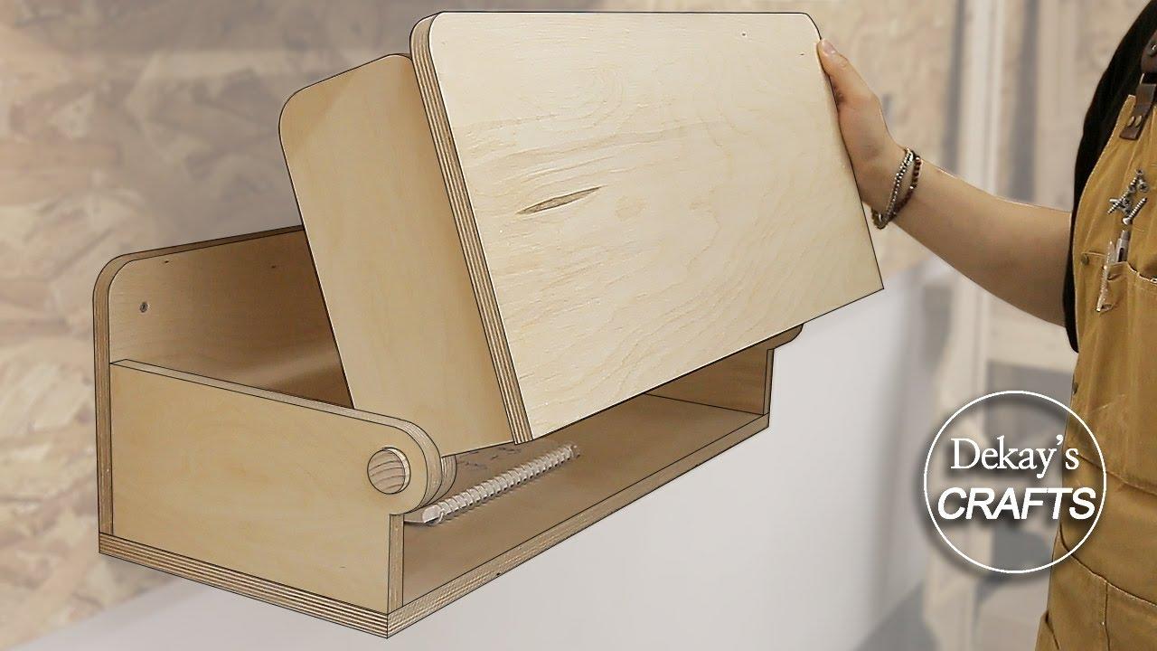 woodworking folding idea! / folding desk / expandable desk / folding shelf / mechanism