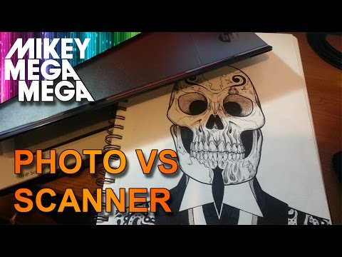 HOW TO PUT YOUR ART ON THE COMPUTER! SCAN IT OR PHOTO!