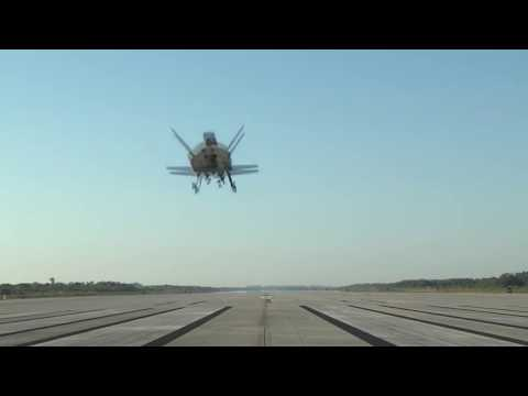Boeing X37B OTV4 landing NASA's Kennedy Space Center (SLF) runway and remote view