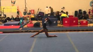 Aliyah Armor Ursinus college floor routine 2014