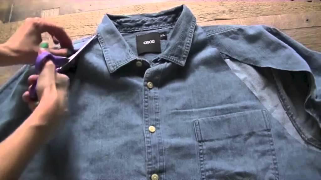 Te enseñamos a crear un vestido con una camisa de hombre - YouTube d3ccfd472187