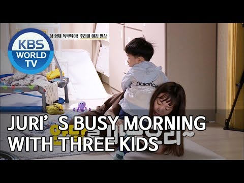 Juri's busy morning with three kids [Trio's Childcare Challenge/ENG/2019.10.23]