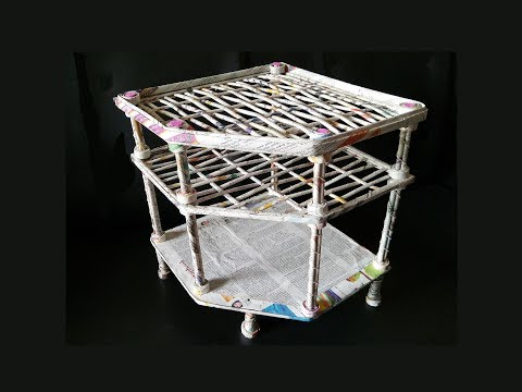 How To Make Rack From Newspaper / DIY Rack from cardboard / DIY Newspaer rack/  Best out of waste