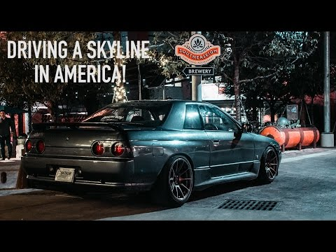 My First Time Driving A RHD Skyline In America!