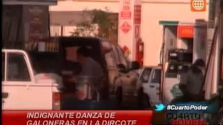 Cuarto Poder: Captan agentes de la Dircote en Lima robando combustible de su institución
