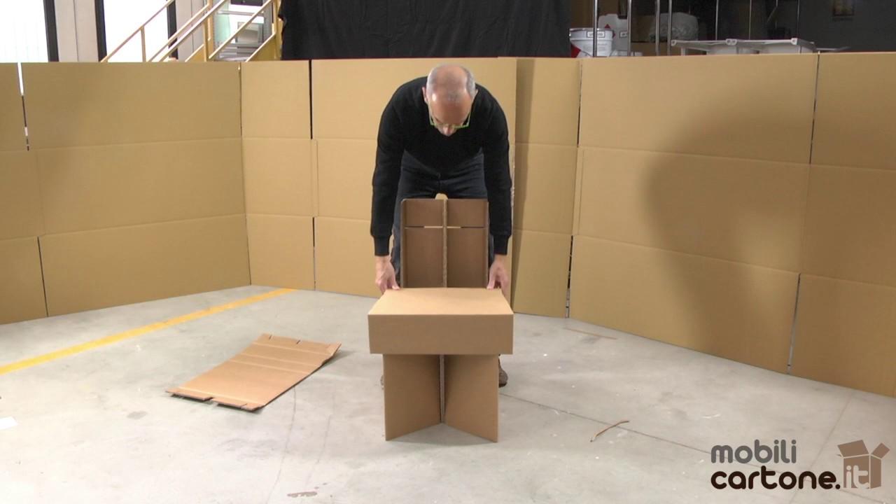 Istruzioni di montaggio sedia avana mobili di cartone youtube - Mobili in cartone ...