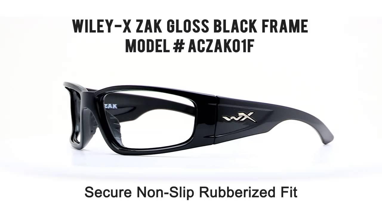 e668c83770 MyEyewear2Go Wiley X Zak Gloss Black - YouTube