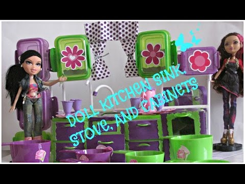 Dollhouse - Doll Kitchen Cabinets - BRATZ - Ever After High-Barbie- Doll Crafts