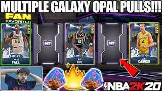 WE PULLED MULTIPLE GALAXY OPALS WITH THE NEW FAN FAVORITE PACKS IN NBA 2K20 MYTEAM PACK OPENING
