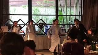 2017年10月8日 with the style 結婚式の余興にて 新郎より参列者の皆様への サプライズダンスを披露 協力 MIHO JFH dance studio.