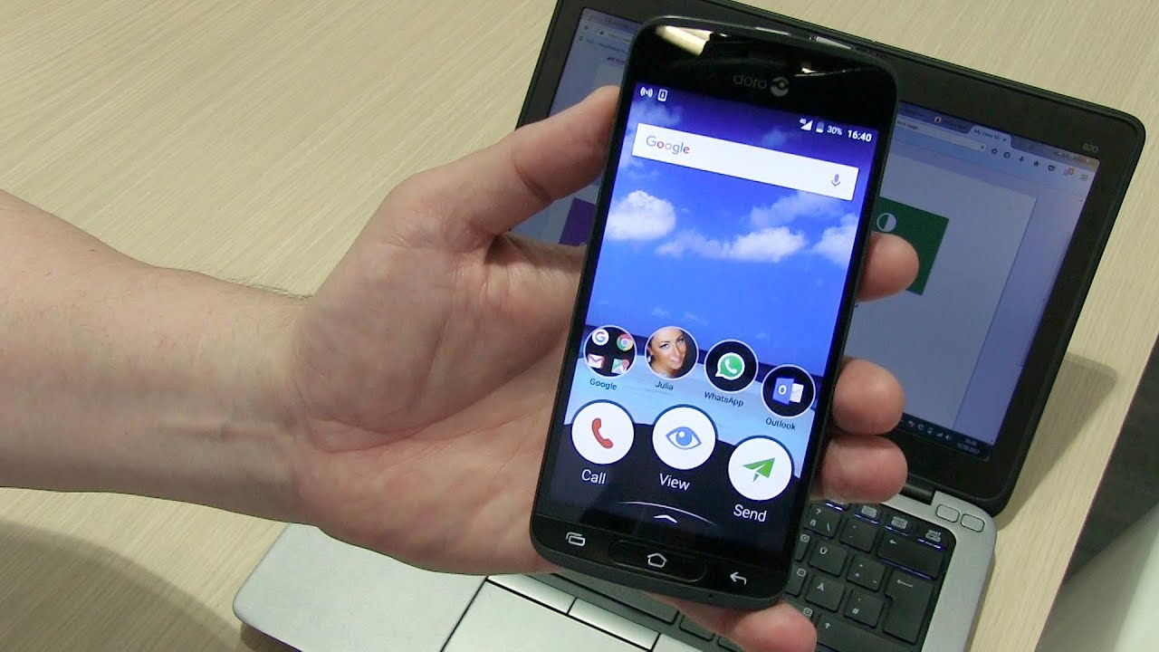 Doro 8040 Senior S Phone With Remote Settings And Easy Usage Hands On Review Ifa Youtube