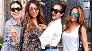 Celebs At Gauri Khans Store Launch | Karisma Kapoor | Malaika Arora Khan| LehrenTV