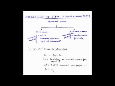 Forecasting - Measurement of Forecasting error - Part 1