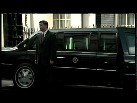 Obama and David Cameron Depart 10 Downing Street