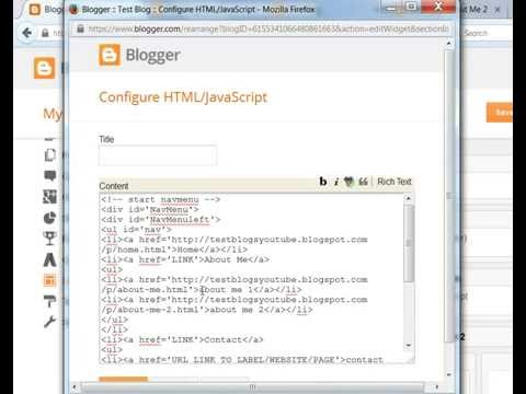 How To Post On Blogger With Html/javascript Gadget (categories And Sub Categories)