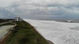 RAW Hurricane Florence DRONE Video from North Topsail Beach, NC