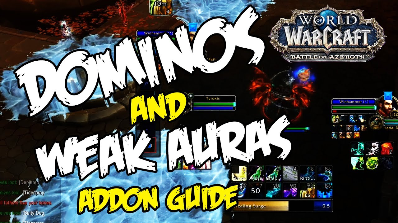 Download WoW Dominos AND Weakauras Guide - Custom Action Bars, Config, Minimalist UI - Nice and Easy!