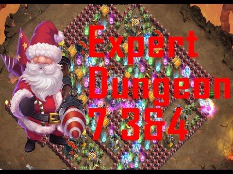 Castle Clash (expert) Dungeon 7 3 & 4
