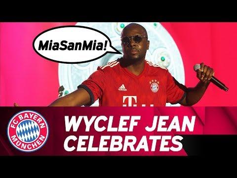 Wyclef Jean freestyles in German! #MiaSanMeister