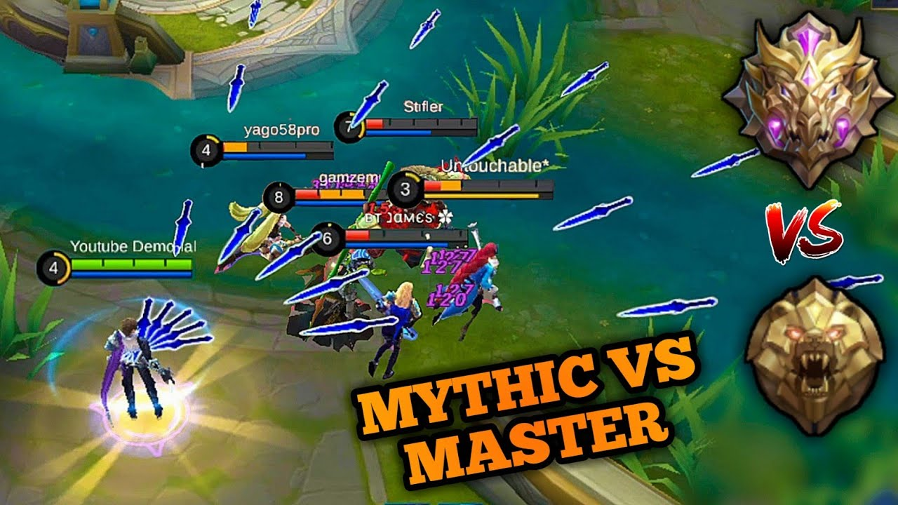 MYTHIC VS MASTER RANK PLAYING GUSION AT MASTER DIVISION MOBILE LEGENDS YouTube