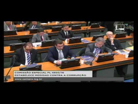 PL 4850/16 - ESTABELECE MEDIDAS CONTRA A CORRUPÇÃO - Reunião Deliberativa - 09/08/2016 - 09:30