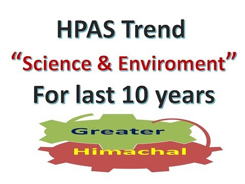 HPAS Trend of Last 10 Years Qestions of Science, Technology and Environment