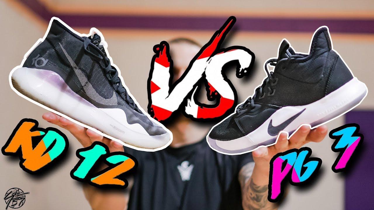 Nike KD 12 vs PG 3! - YouTube