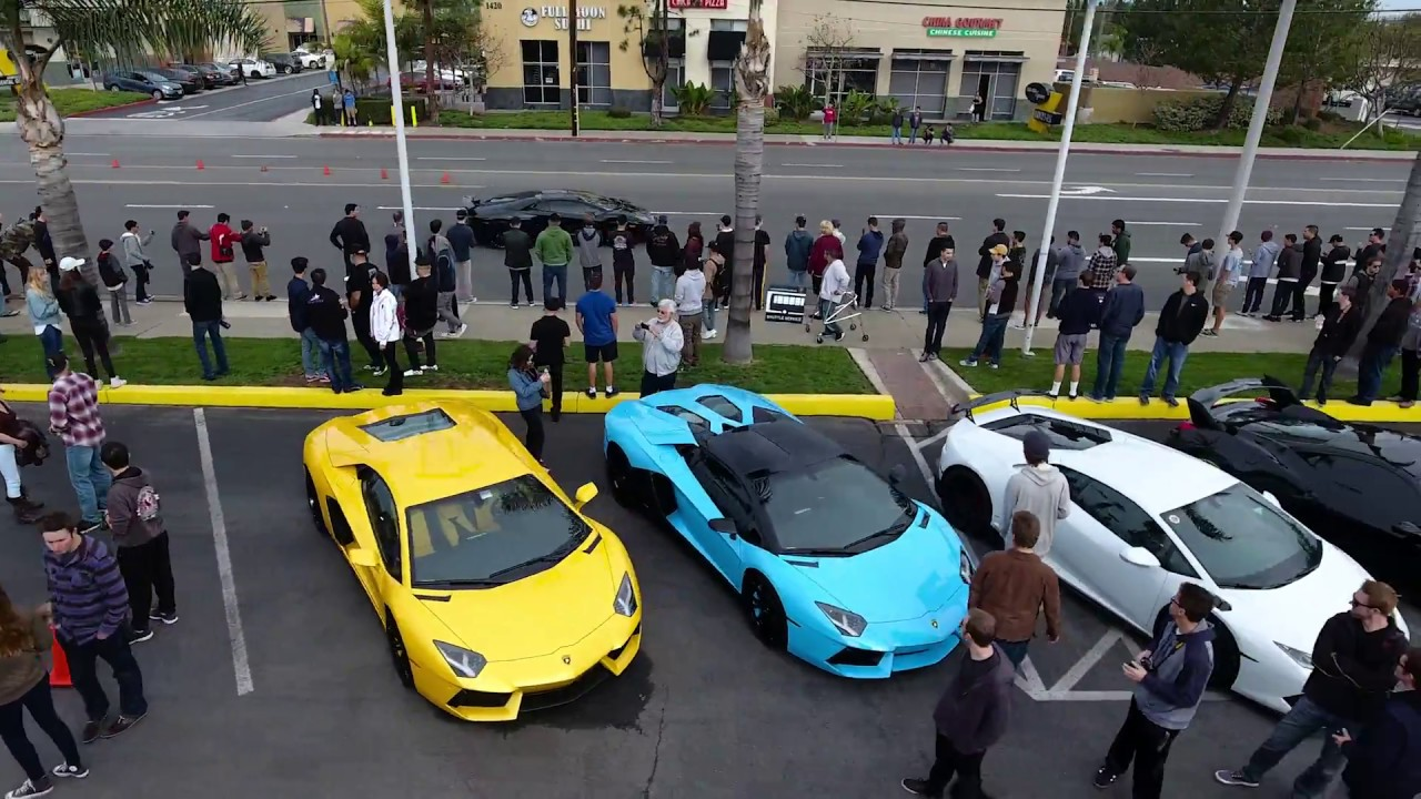 January 2017 Supercar Show At Lamborghini Newport Beach Youtube