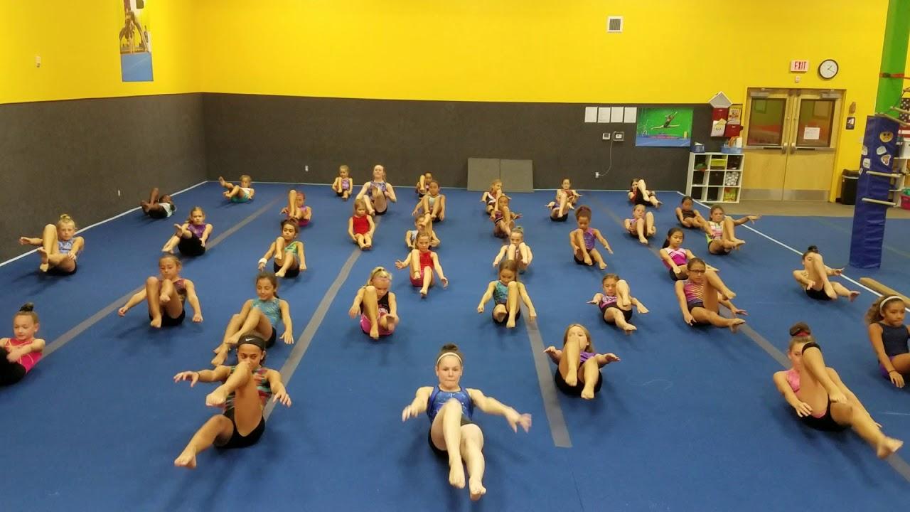 baby shark gymnastics