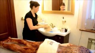 видео SPA обертывание, шоколадное обертывание, антицеллюлитное обертывание, обертывание в домашних условиях, СПА обертывание
