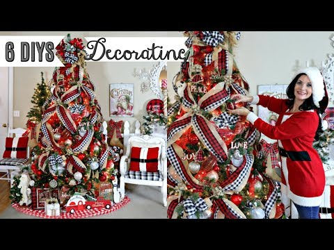 "🎄6 DIY DOLLAR TREE THRIFT STORE CHRISTMAS DECOR CRAFTS & DECORATING 2019🎄 ""I Love Christmas"" ep 20"
