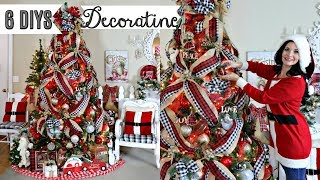 🎄6 DIY DOLLAR TREE THRIFT STORE CHRISTMAS DECOR CRAFTS & DECORATING 2019🎄