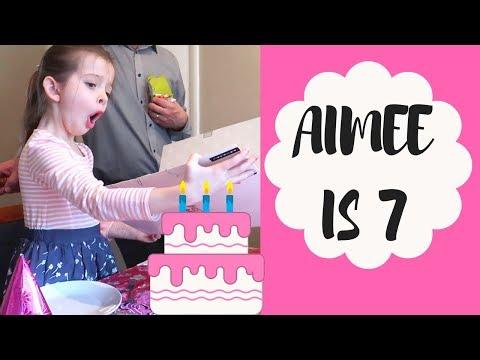 Aimee's 7th Birthday Vlog | Apple Ipod |...