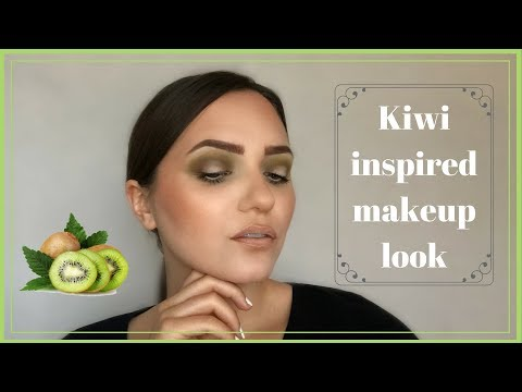 Fruity friday: Kiwi Inspired Makeup | Green and White halo Eye | Dora Makeup