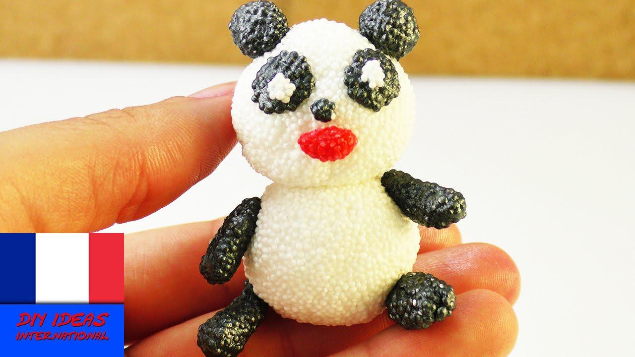 Panda en Foam Clay - Panda tout mignon en pâte à modeler - super simple pour les enfants - YouTube