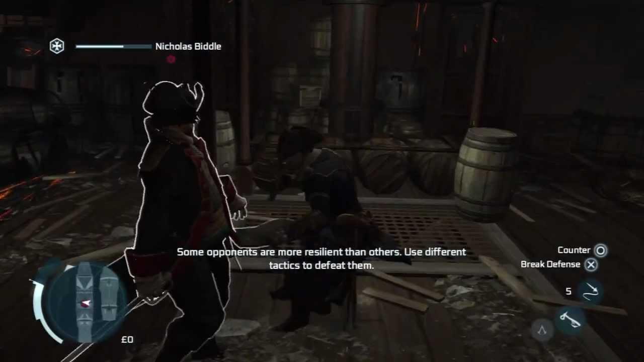 Assassins Creed 3 Boss Nicholas Biddle Youtube