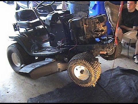 John Deere Lawn Mower Wiring Diagram Craftsman Riding Mower Motor Change Youtube