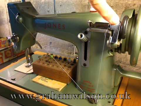 Jones Family CS Model E Winding The Bobbin YouTube Stunning Jones Cb Sewing Machine