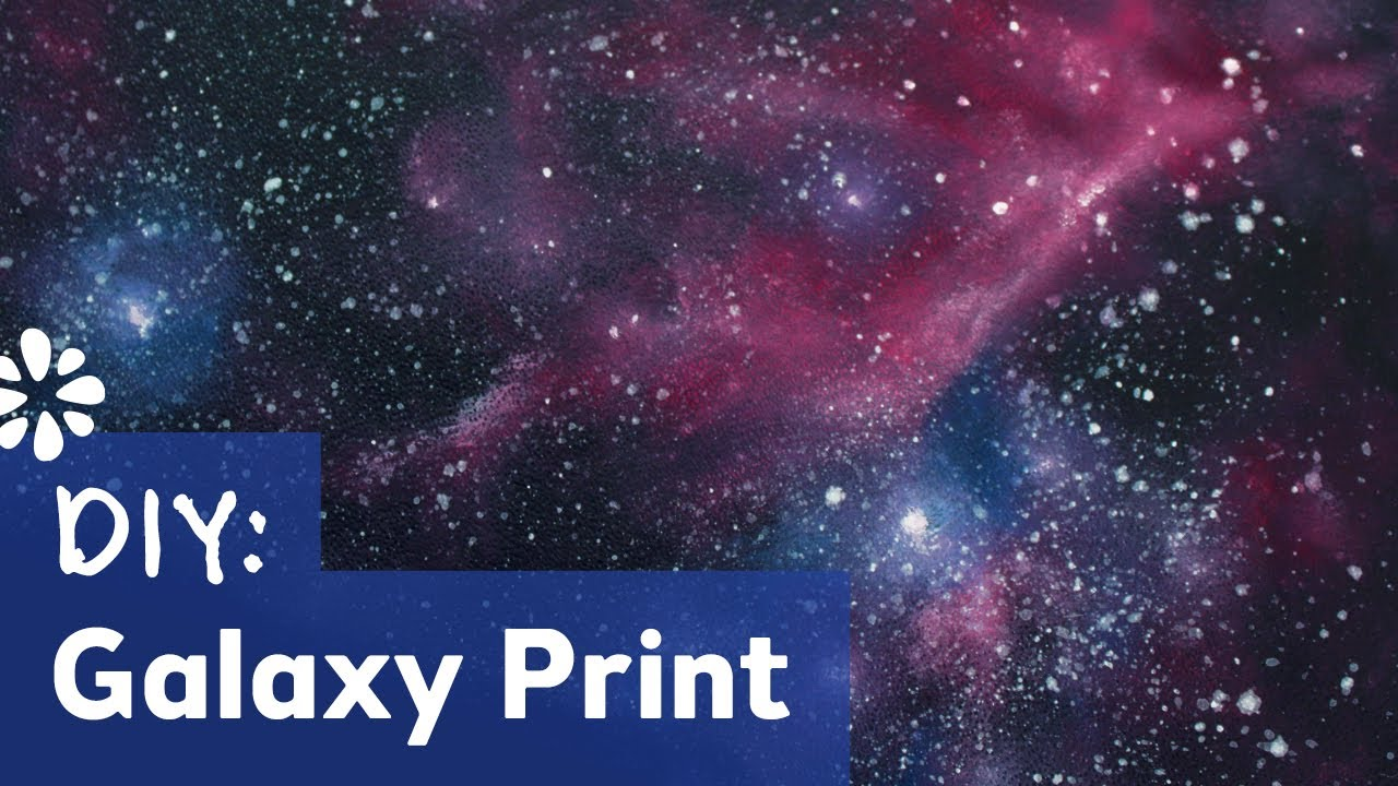 DIY Galaxy Print | Painting Tutorial | Sea Lemon - YouTube