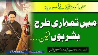 HAZOOR (saww) Ne FARMAYA Me Tumhari Tarha Bashar Hu Lekin.?by Allama Shahenshah Hussain Naqvi